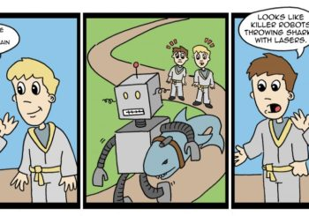 Are These The Droids You Are Looking For?  --Cartoon