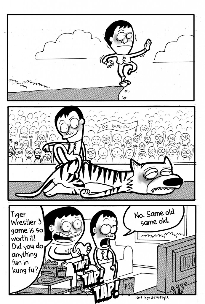 Cartoon Flagstaff Martial Arts School